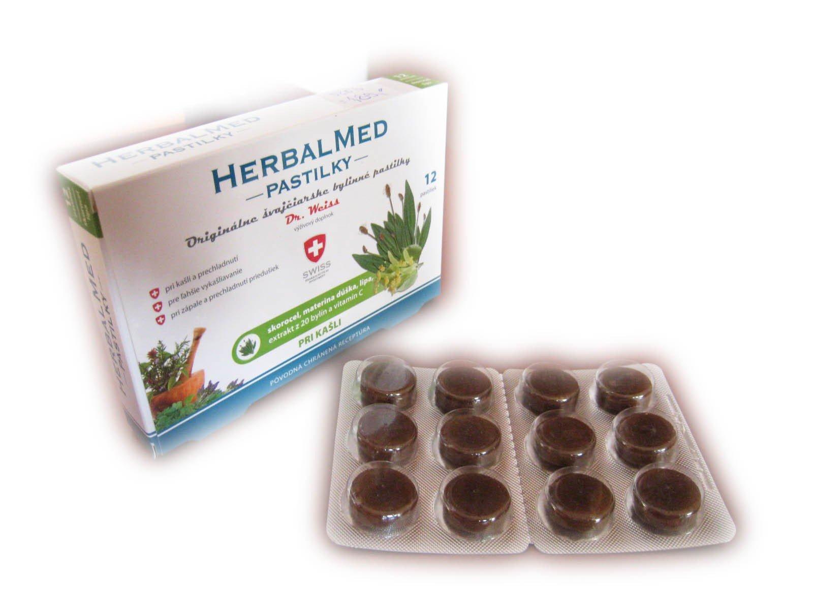 Swiss HerbalMed pastilky pri kašli 12 pastiliek