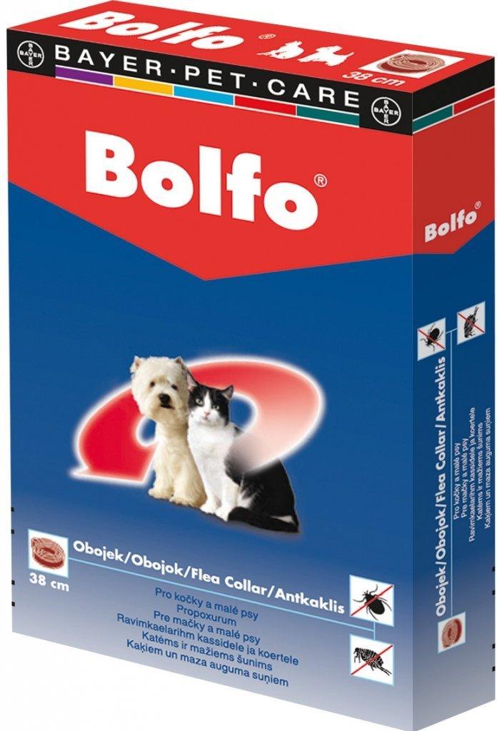 BOLFO antiparazitný obojok pre mačky a malých psov 38cm