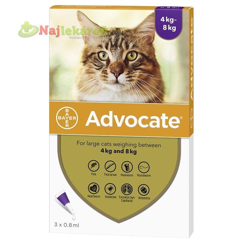 Advocate spot-on pipeta pre veľké mačky proti parazitom 3x0,8 ml