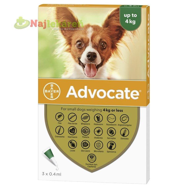 Advocate spot-on pipeta pre malé psy proti parazitom 3x0,4ml