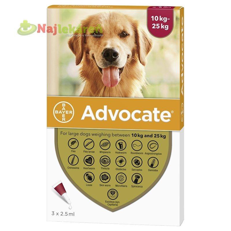 Advocate spot-on pipeta pre veľké psy proti parazitom 3x2,5ml