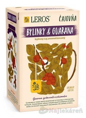 LEROS Čajovňa BYLINKY A GUARANA bylinný čaj 20x2 g - LEROS VITAL GUARANA PORC 20 x 2 g
