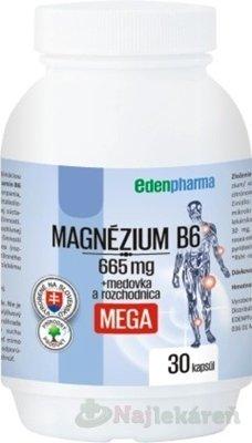 EDENPharma MAGNÉZIUM B6 MEGA - EdenPharma MAGNÉZIUM + Vitamín B6 30 tabliet