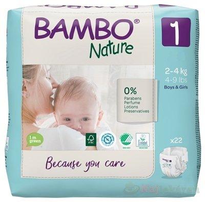 BAMBO 1 (2-4 kg) detské plienky priedušné 22 ks