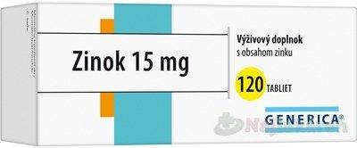 GENERICA Zinok 15 mg - Generica Zinek 15 mg 120 tabliet