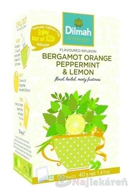 Dilmah BERGAMOT ORANGE PEPPERMINT & LEMON - Dilmah Infusions Bergamot Orange, Peppermint & Lemon Bylinný čaj 20 x 2 g