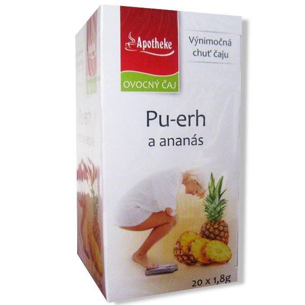 Apotheke Čaj pu-erh a ananas 20 x 1,8 g
