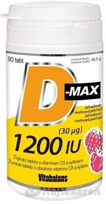 Vitabalans D-max 1200 IU (30 µg) - D-Max 1200 IU 90 tabliet