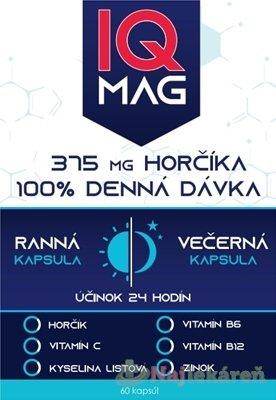 NaturProdukt IQ MAG Horčík 375 mg - IQ Mag ranní/večerní 60 kapsúl