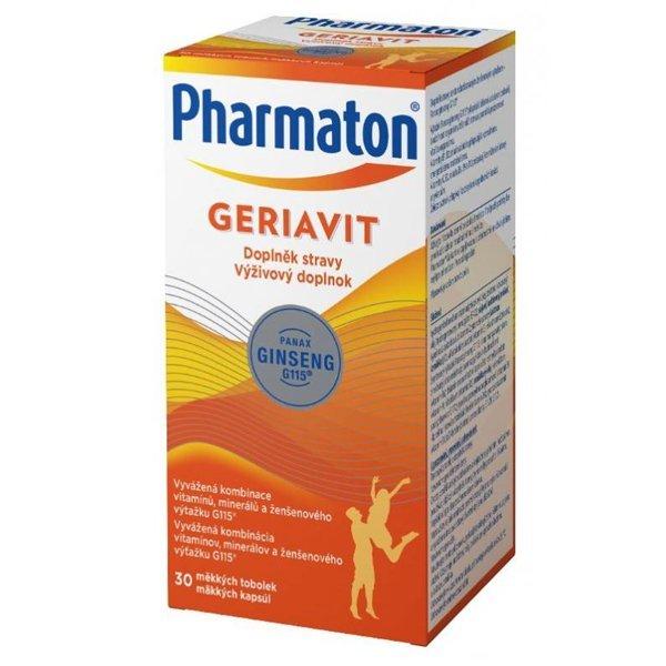 Pharmaton Geriavit vitamíny, minerály a ženšen, 30cps - Pharmaton Geriavit cps.mol.30