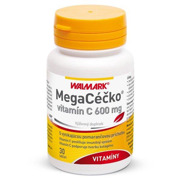 Megacéčko vit. C s pomarančovou príchuťou 600 mg 30 tbl
