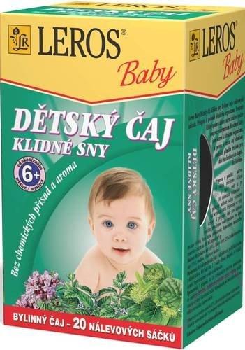 Čaj Detský pokojné sny 20 x 1,5 g - Leros Baby pokojné sny 20 x 1 ,5 g