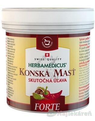 KONSKÁ MASŤ FORTE HREJIVÁ, od bolesti chrbtice, 500 ml - Herbamedicus konská masť Forte hrejivá 500 ml