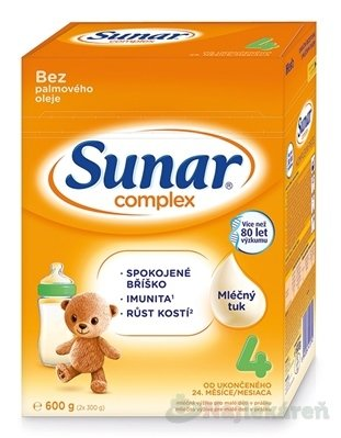 Sunar Complex 4 mliečna výživa 600g
