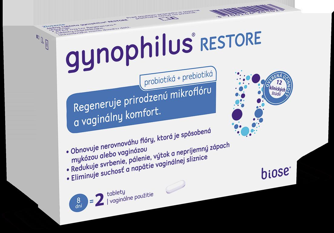 GYNOPHILUS RESTORE vaginálne tablety 2ks