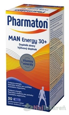 Pharmaton MAN Energy 30+, pre potreby mužského tela 30 tbl. - Pharmaton MAN Energy 30+, 30 kapsúl