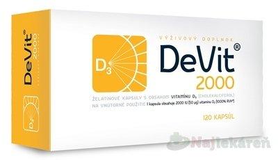 DeVit 2000 želatínové kapsuly 120 ks