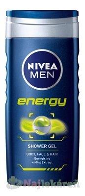 NIVEA MEN SPRCHOVÝ GÉL ENERGY - Nivea Men Energy sprchový gél 250 ml
