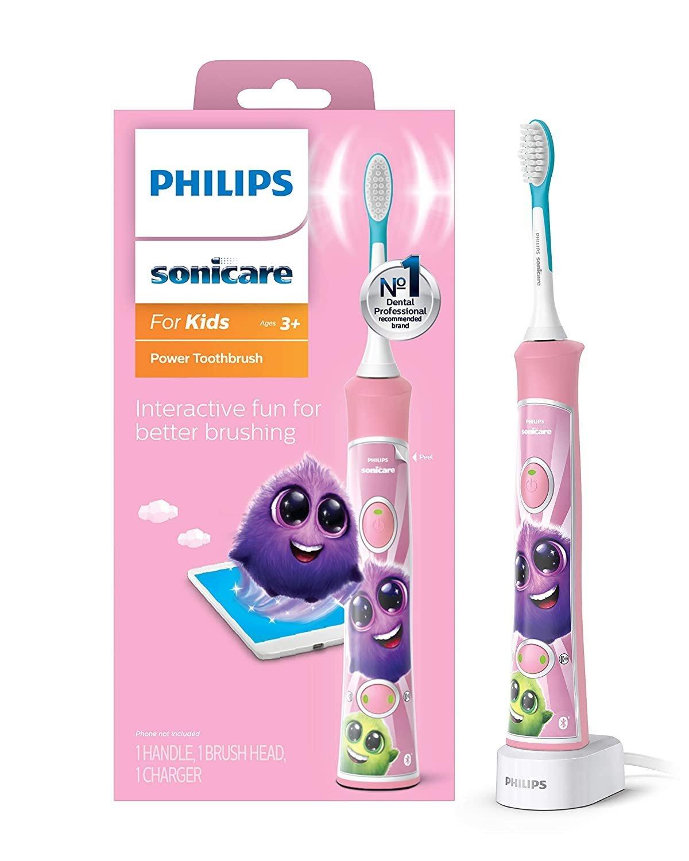 Philips Sonicare for Kids s Bluetooth - sonická kefka, ružová