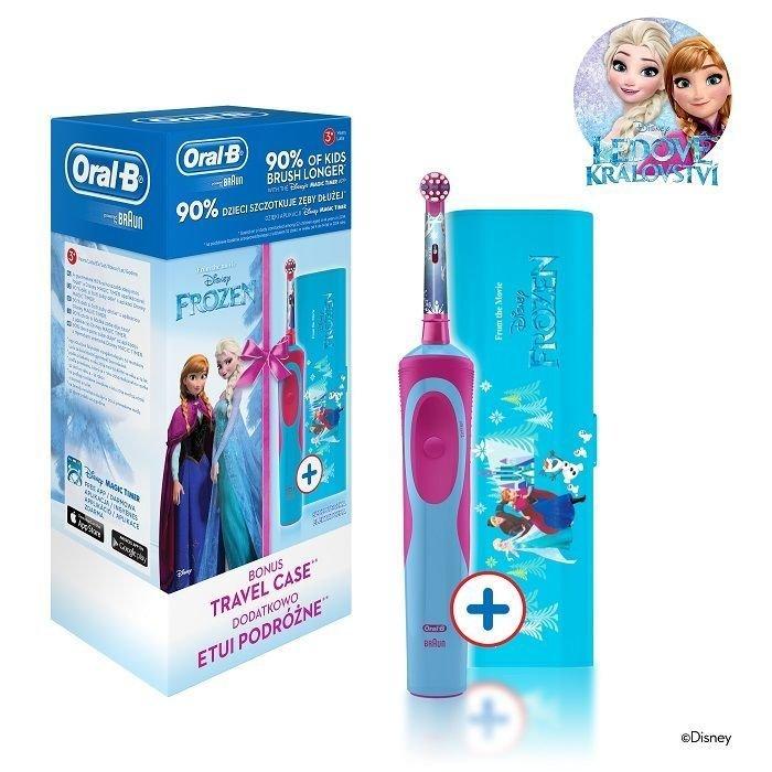 Oral-B elektrická zubná kefka pre deti Frozen + cestovné púzdro ZDARMA