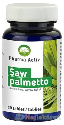 Pharma Activ Saw palmetto, 50 ks - Pharma Activ Saw palmetto 50 tabliet