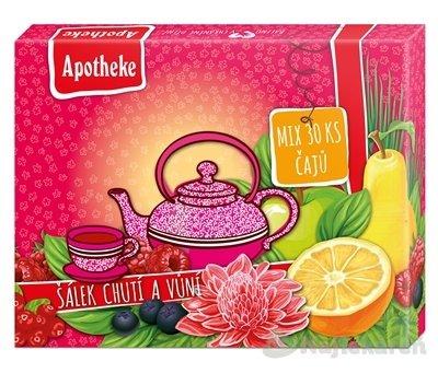 APOTHEKE KOLEKCIA ŠÁLKA CHUTÍ A VÔNÍ 6 druhov po 5ks - Apotheke Šálek chutí a vůní kolekce prémiových čajů malá 30 x 2 g