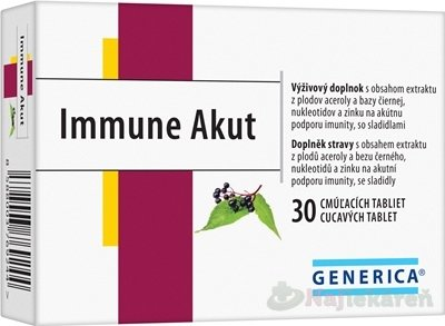GENERICA Immune Akut cmúľacie tablety, 30 tbl