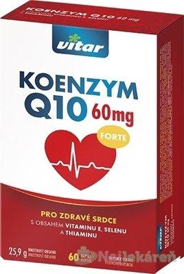 VITAR KOENZYM Q10 FORTE 60 mg - Vitar KOENZYM Q10 FORTE 60 mg 60 kapsúl