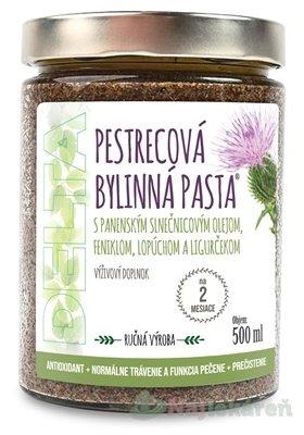 DELTA PESTRECOVÁ BYLINNÁ PASTA - Delta Pestrecová Bylinná Pasta s panenským slnečnicovým olejom, feniklom, lopúchom a ligurčekom 500 ml