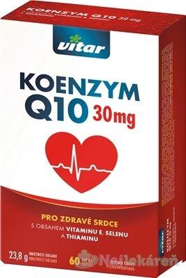 VITAR KOENZYM Q10 30 mg - Revital Koenzym Q10 100 mg + Se + vit.E 60 kapsúl