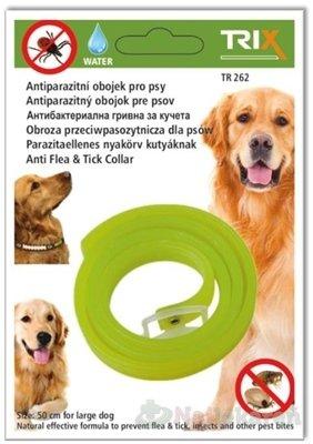 TRIX TR262 Antiparazitný obojok - Trix Antiparazitní voděodolný obojek pro psy proti blechám, klíšťatům a ostatním druhům ektoparazitů 50 cm