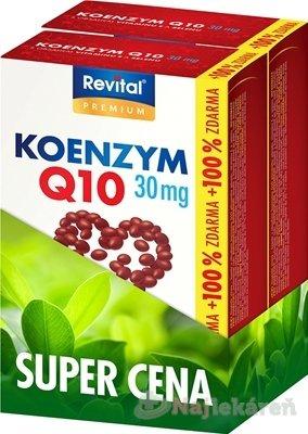 Revital KOENZÝM Q10 30 mg+VITAMÍN E+SELÉN - Revital KOENZÝM Q10 60 mg+VITAMÍN E + SELÉN FORTE DUOPACK 2 x 60 kapsúl