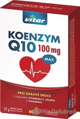VITAR KOENZYM Q10 MAX 100 mg - Revital Koenzym Q10 100 mg + Se + vit.E 60 kapsúl