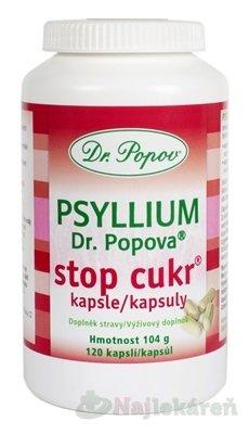 DR. POPOV PSYLLIUM STOP CUKR - Dr.Popov Psyllium Stopcukr 120 kapsúl