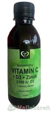 Lipozomálny VITAMÍN C+D3+Zinok - Zdravý svet 200ml