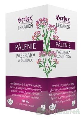 HERBEX Lekáreň PÁLENIE pažeráka a žalúdka, 20x3 g - HERBEX Lekáreň PÁLENIE pažeráka a žalúdka bylinná zmes 20 x 3 g