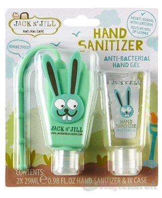 JACK N´JILL Antibakteriálny gél na ruky pre deti - Jack N´Jill Antibakteriálny gél na ruky pre deti Zajko 2 x 29 ml