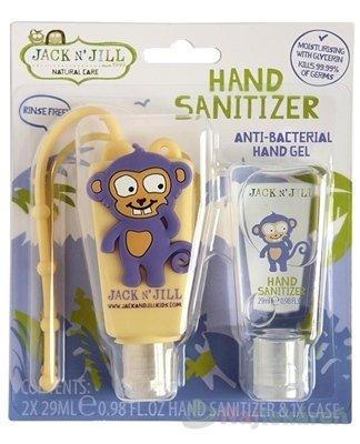 JACK N´JILL Antibakteriálny gél na ruky pre deti - Jack N´Jill Antibakteriálny gél na ruky pre deti Opica 2 x 29 ml