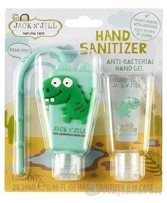 JACK N´JILL Antibakteriálny gél na ruky pre deti - Jack N´Jill Antibakteriálny gél na ruky pre deti Dino 2 x 29 ml