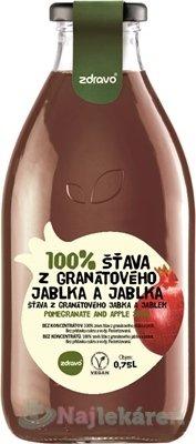 Zdravo 100% ŠŤAVA Z GRANÁTOVÉHO JABLKA A JABLKA 0,75l
