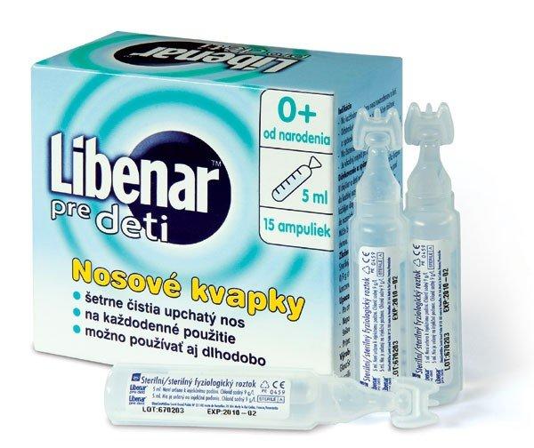 Libenar pre deti nosové kvapky roztok 15x5 ml