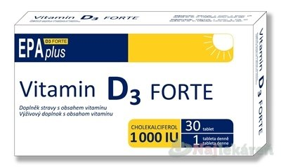 Epa Plus Vitamín D3 Forte 1000 I.U. 30 tabliet