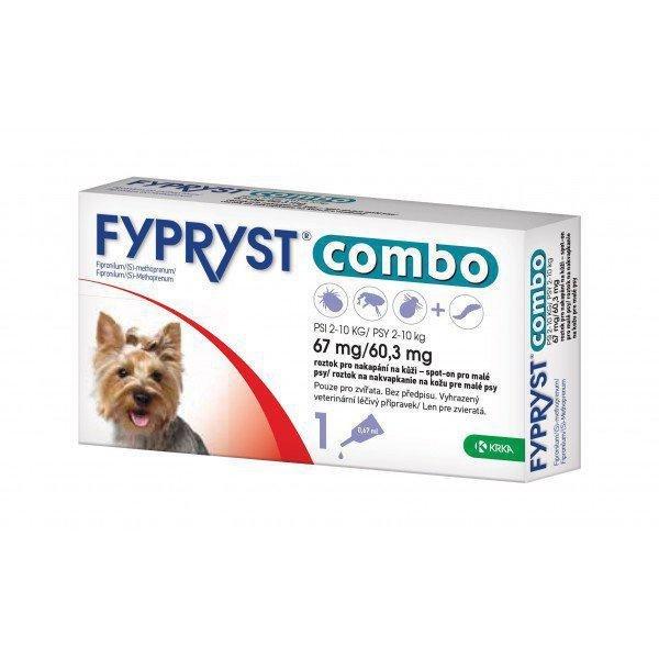 FYPRYST combo 67 mg/60,3 mg pre malé psy 1x0,67ml