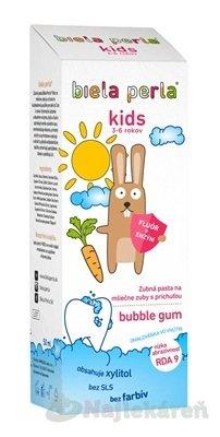 Biela perla Kids - Biela perla Detská zubná pasta kids bubble gum, 3 – 6 rokov 50 ml