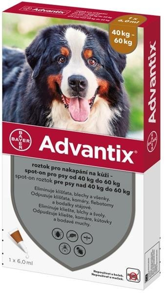 Advantix spot -on proti parazitom pre psy nad 40 kg