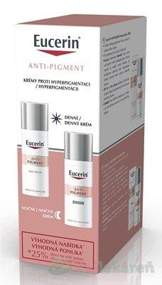 Eucerin ANTI-PIGMENT krémy, denný 50 ml + nočný 50 m - Eucerin Antipigment denný krém 50 ml + nočný krém 50 ml darčeková sada