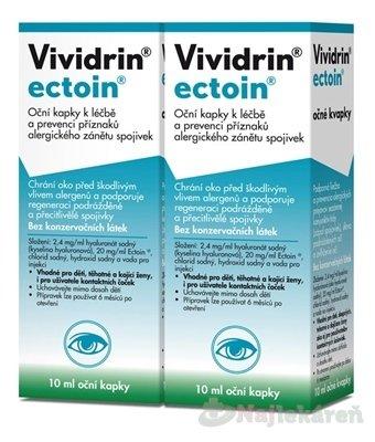 Vividrin ectoin, očné kvapky, 2x10 (20 ml)