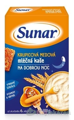 Sunar KRUPICOVÁ MEDOVÁ KAŠA mliečna NA DOBRÚ NOC 225g