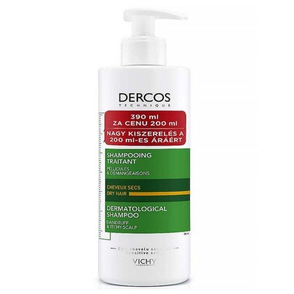 Vichy Dercos ANTI-PELLICULAIRE šampón na suché lupiny 390ml