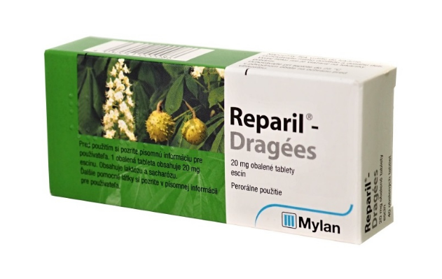 Reparil Dragees na liečbu opuchov 40tbl